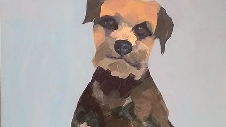 A portrait of Nico by Cromer artist Beverley Laura. The painting is on display at the public art ga
