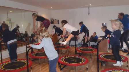 Children from Blakeney CE VA Primary School bounce their way to raising £1,000 for charity. Picture: