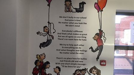 A poem written by students at North Walsham Junior School to mark Anti-Bullying Week. Picture: North