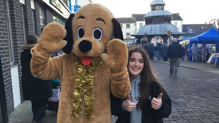 George the Pup and Jenna Inglis from Victory Swim and Fitness Centre were among visitors to the Nor