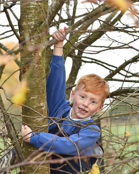 Hickling School celebrate their good Ofsted, pupils enjoy their forest school.Byline: Sonya DuncanCo