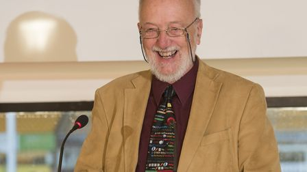 East Anglian Book Awards: Peter Stibbons, of Poppyland Publishing, receives the award.Picture: Nick