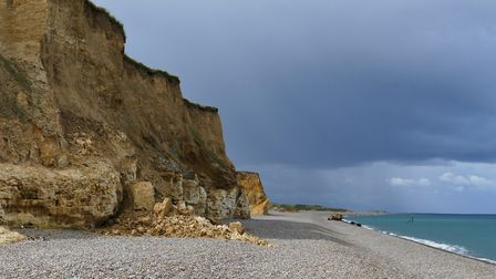 Weybourne cliffs and beach Photo: Lesley Buckley