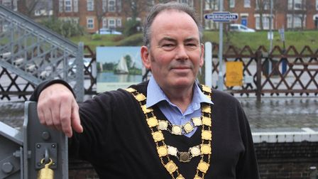 Sheringham's new mayor Mark Hill, who says the town council is committed to working together for the