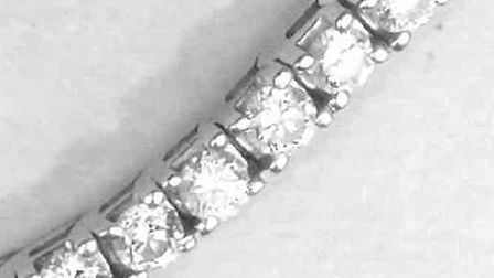 The diamond bracelet was one of the items stolen. Picture: Norfolk Constabulary.