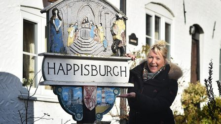 Happisburgh, nominated as Village of the Year. Resident Denise Burke who nominated the village.Pictu