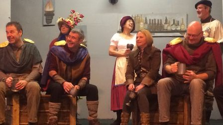 Aldborough Players cast members in the production of Excalibur – The Greatest Sword on Earth.