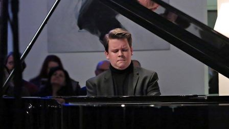 Acclaimed pianist Mark Viner, who will be giving a concert at St Andrew's Church, Holt. Photo: MARK