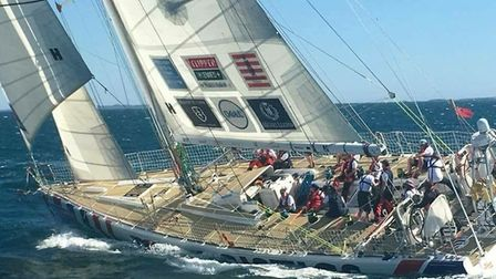 David Greer's round the world yacht race. Pictures: Supplied by Marie Greer