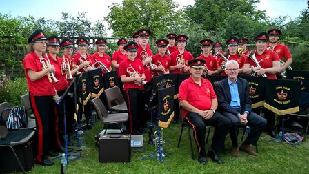 Stalham Brass Band at a summer engagement. Picture: Tim Thirst