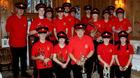 Stalham Brass Band finishes off its Christmas 'Mumping' season at Stalham Old Hall, where it first p