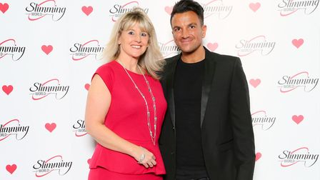 Slimming World consultant Jane Keil meets singer and presenter Peter Andre. Picture: Slimming World