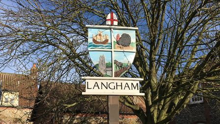 Langham's village sign. Picture: Stuart Anderson