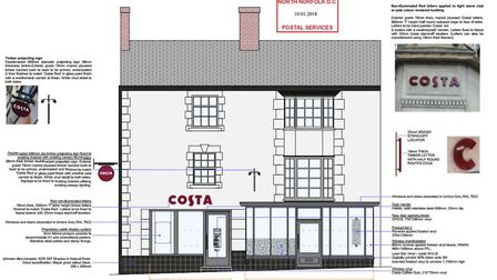 A front elevation drawing of what the new store could look like, from planning documents available o