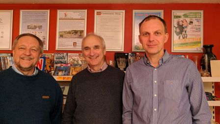 From left, Paul Oakes, Bob Wright and Jon Witte, trustees of the new North Walsham Community Shop. P