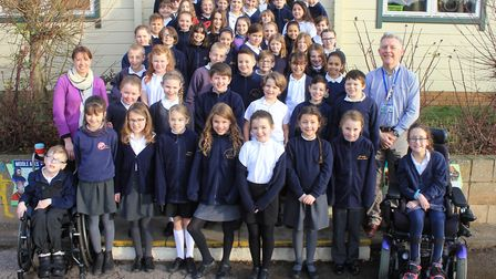 Sheringham Primary School choir members, who will be appearing at the O2 in London with choir leader