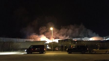 A fire has broken out at North Walsham Industrial Estate. Picture: Will Starling