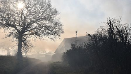 The fire in North Walsham on the weekend. Picture: Sonya Duncan
