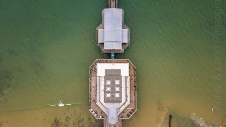 Cromer Pier viewed from above. Picture: Jon Williamson