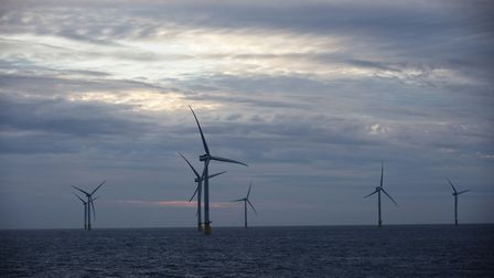 Orsted's Race Bank Offshore Wind Farm, located off the north Norfolk coast. Picture: Alasdair Smith/