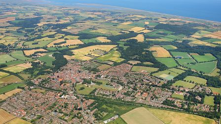 Holt and the coast from the air. Picture: MIKE PAGE