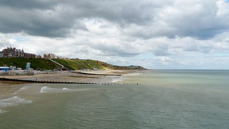 Cromer on a cloudy day Photo:Lesley Buckley