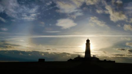 The silhouette of Happisburgh Lighthouse Photo: Andy Walker