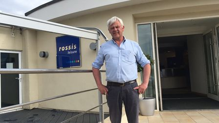Bruce Rossi is pictured outside the family firm in North Walsham. Picture: David Bale