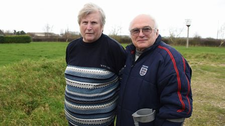 Linda and Jon Walland at the field opposite their home in Knapton where Victory Housing want to buil