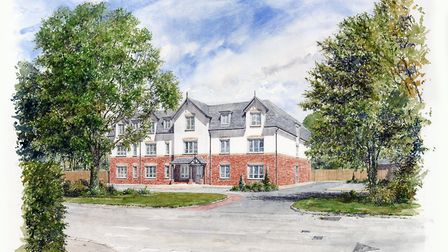 An artist's impression of specialist supported living developer HBV's plans for Queensway, North Wal