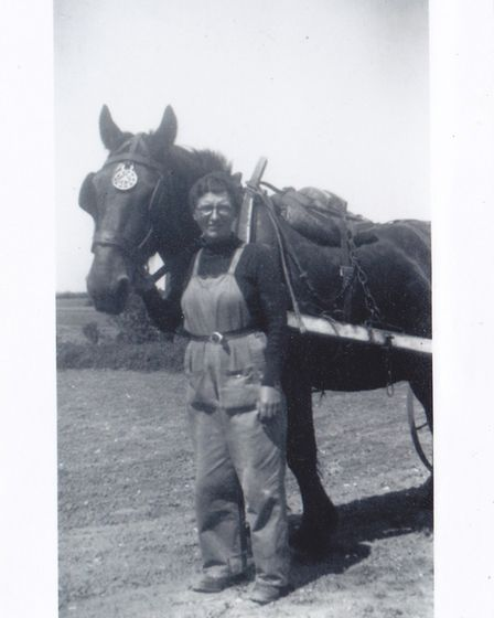 Dorothy Rose, in her days with the Women's Land Army. Picture: Courtesy of Peter Riches
