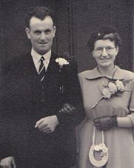 Dorothy Rose, on the day of her wedding to second husband Joseph Rose in 1952, taken outside the Sac