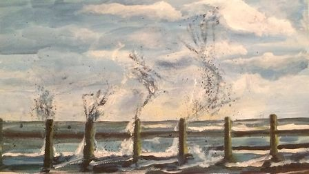 An artwork by Rosamunde Copping, now on display at the North Norfolk District Council office in Holt
