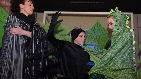 The Aldborough Players working on their panto Sleeping Beauty, as they celebrate their 25th annivers