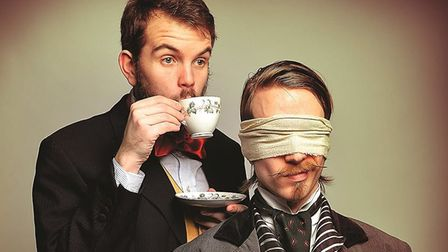 Time travelling magicians Morgan and West, who will be appearing at Sheringham Little Theatre on Feb