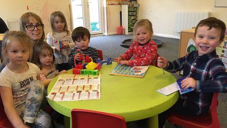Becky Garratt with youngsters at the new Little Sprouts nursery in Aylmerton. Picture: Stuart Anders