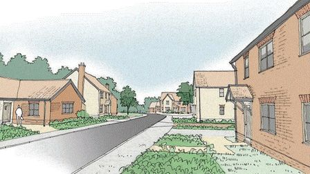 An artists' impression of the new homes planned for Hoveton. Image: FW Properties