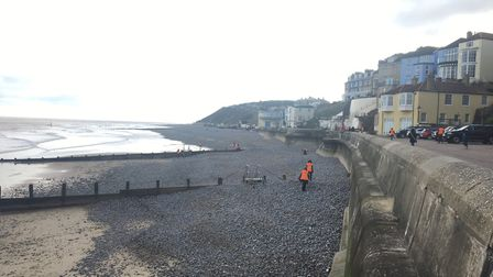 Volunteers out on the beach in Cromer. Picture: Eleanor Pringle