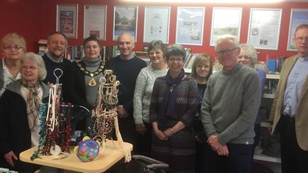Volunteers, trustees and supporters of the new North Walsham Community Shop, including North Norfol