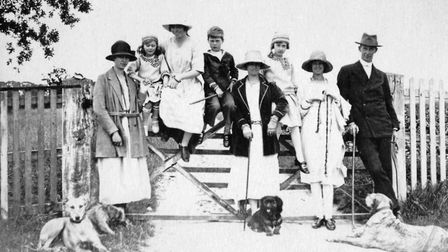 Reverend Humphrey Barclay and family in Southrepps, 1922. Picture: Courtesy of the Southrepps Societ