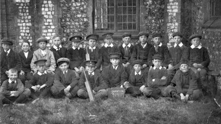 Southrepps School photograph ,1918. Picture: Courtesy of the Southrepps Society