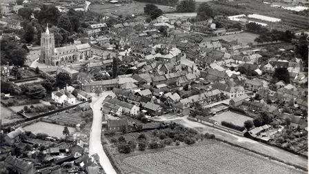 An aerial photograph of Aylsham from 1932. Picture: COURTESY AYLSHAM TOWN ARCHIVE