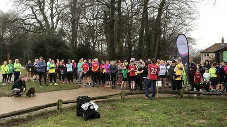 Participants in David's Run in Sheringham, 2018. Picture: CLIVE HEDGES