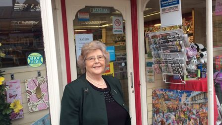 FC Barnwell & Sons in Market Place, Aylsham has been run by Gwen Wright for 47 years, but she is soo