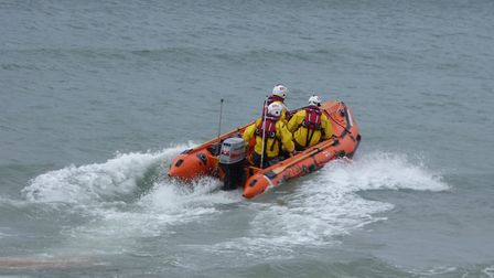 The inshore lifeboat was launched from Cromer on 8.3.18. Picture: Paul Russell