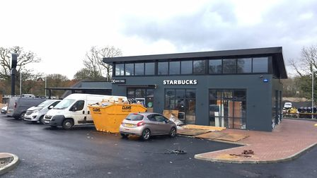 A Starbucks cafe with a drive through is under construction in Burgh Road, Aylsham. Picture: STUART
