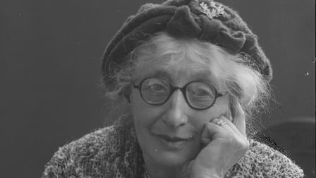 Olive Edis. Photo by Cyril Nunn. glass plate negative, 1953. Picture: Norfolk Museums Service (Crom