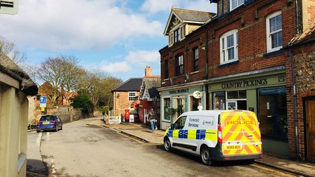 Police attended a robbery at Mundesley post office. Picture: DAVID BALE