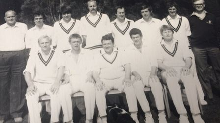 Tributes paid to David Armstrong. Back row, far right, with Norfolk County Cricket Club. Pictures: S