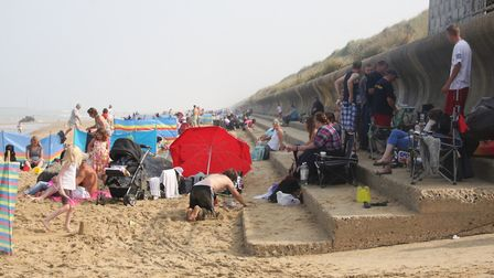 Sea Palling before sand loss to right of ramp. Picture: Maurice Gray